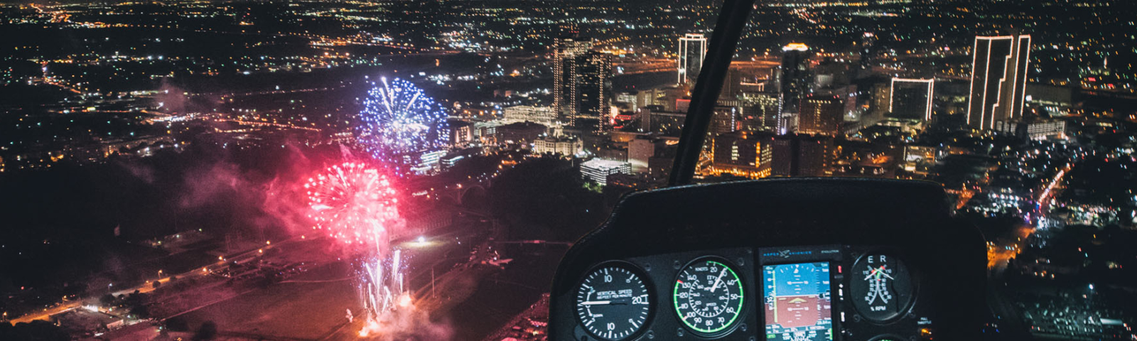 Helicopter Tours Ride Fireworks