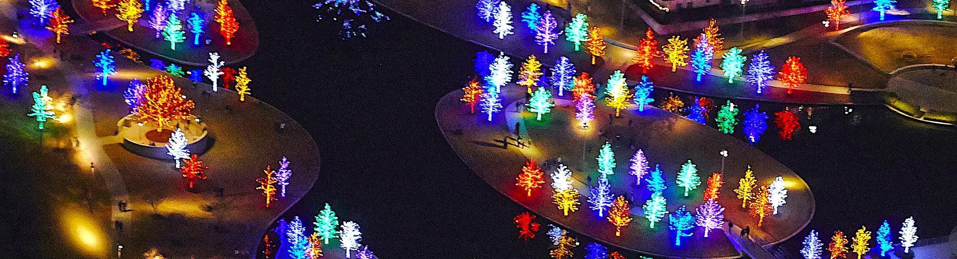 Vitruvian Lights Addison by Helicopter